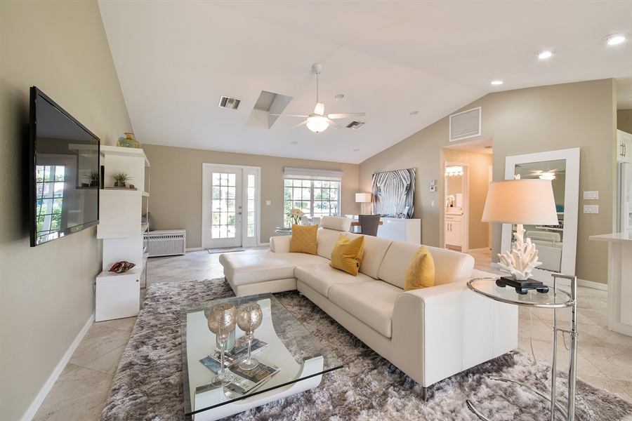 Real Estate Photography - 2666 Outrigger Ln, Naples, FL, 34104 - Living Room