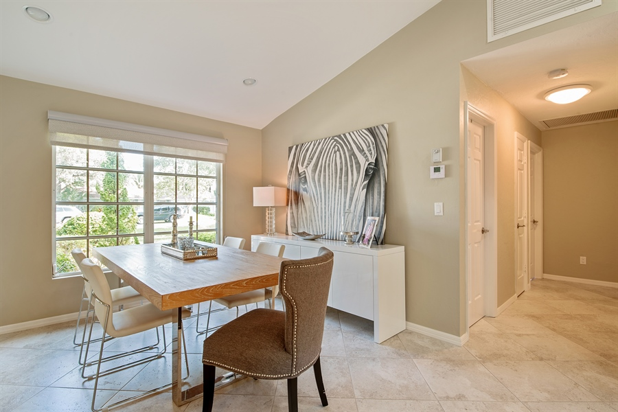 Real Estate Photography - 2666 Outrigger Ln, Naples, FL, 34104 - Dining Room