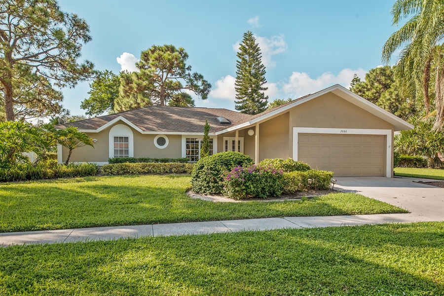 Real Estate Photography - 2666 Outrigger Ln, Naples, FL, 34104 - Front View