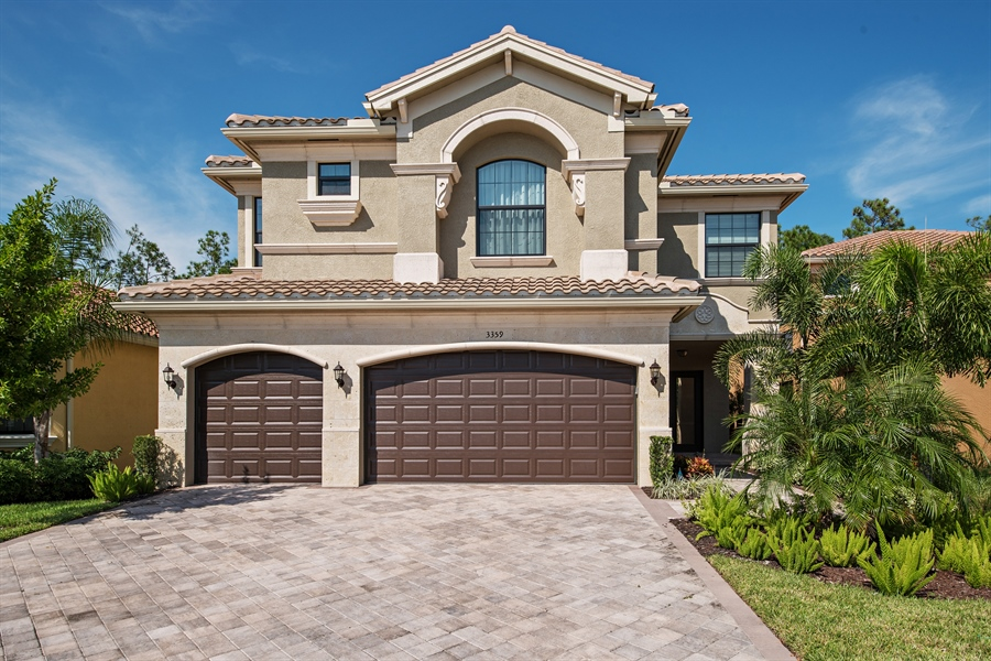 Real Estate Photography - 3359 Pacific Dr, Naples, FL, 34119 - Front View