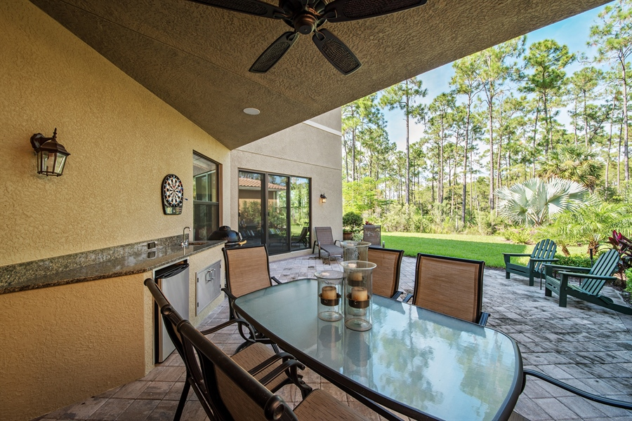 Real Estate Photography - 3359 Pacific Dr, Naples, FL, 34119 - Patio