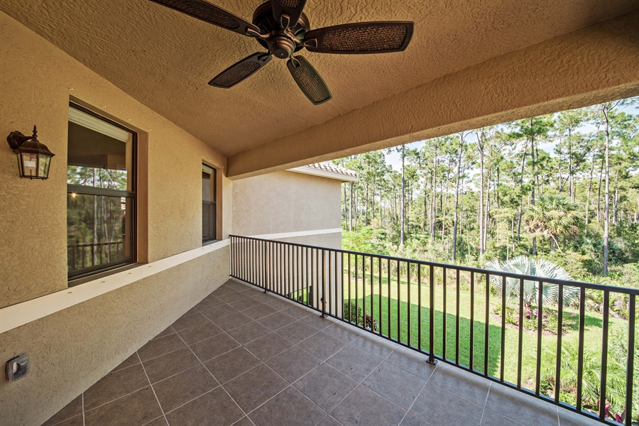 Real Estate Photography - 3359 Pacific Dr, Naples, FL, 34119 - Balcony