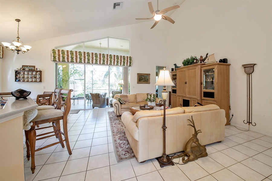 Real Estate Photography - 8829 Ventura Way, Naples, FL, 34109 - Living Room