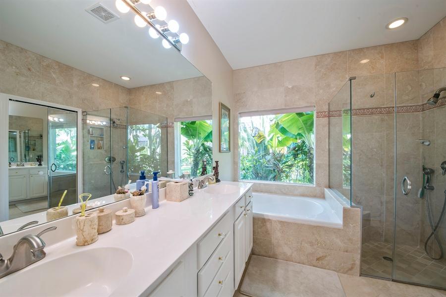 Real Estate Photography - 8829 Ventura Way, Naples, FL, 34109 - Master Bathroom