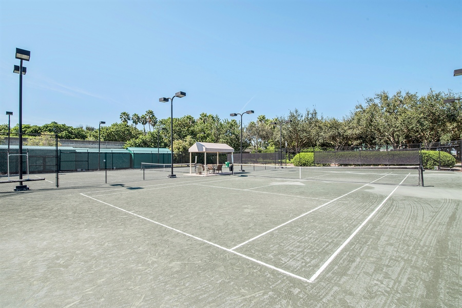 Real Estate Photography - 8829 Ventura Way, Naples, FL, 34109 - Tennis Court