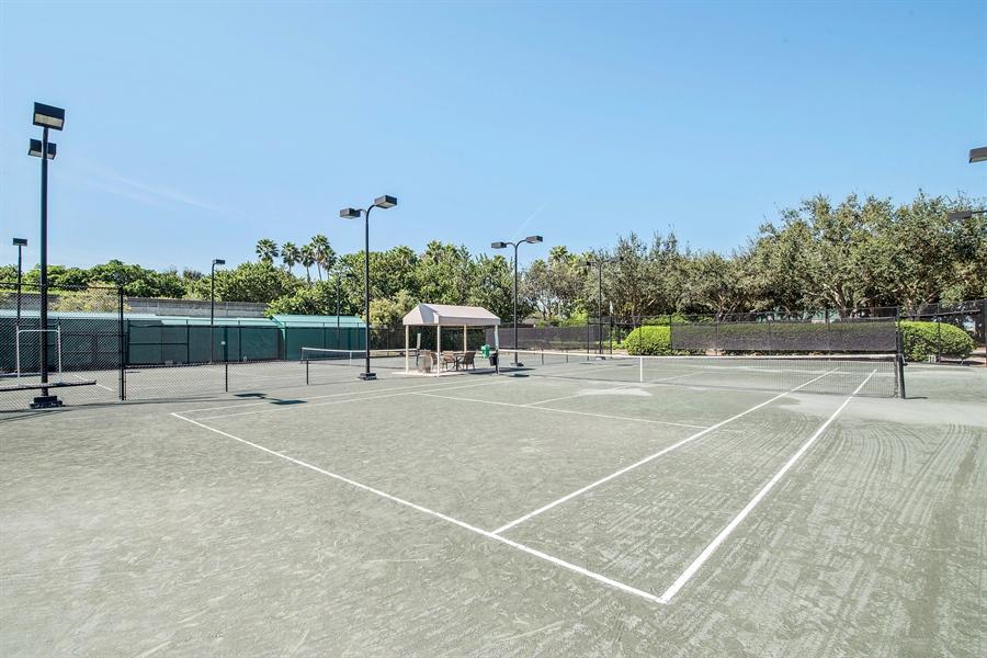 Real Estate Photography - 8829 Ventura Way, Naples, FL, 34109 - Tennis Court