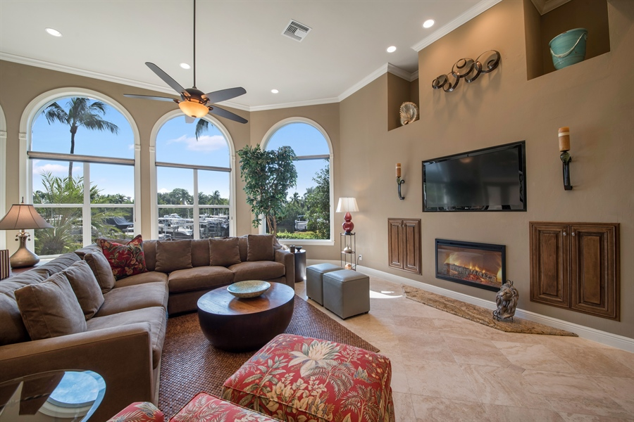 Real Estate Photography - 27640 Marina Isle Ct, Bonita Springs, FL, 34134 - Living Room
