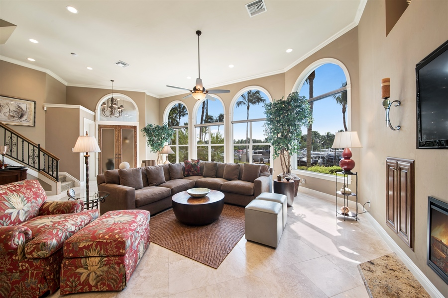 Real Estate Photography - 27640 Marina Isle Ct, Bonita Springs, FL, 34134 - Living Room