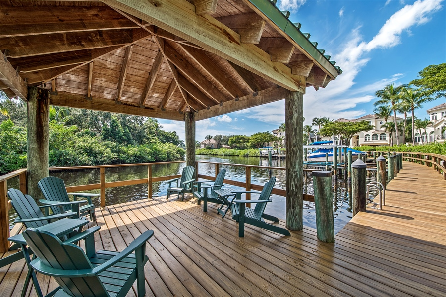 Real Estate Photography - 27640 Marina Isle Ct, Bonita Springs, FL, 34134 - Gazebo