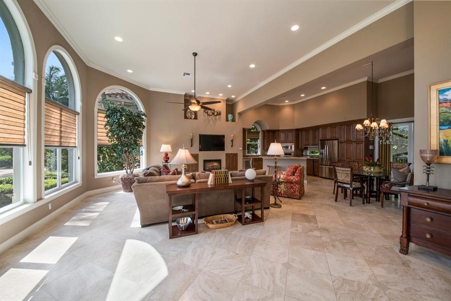 Real Estate Photography - 27640 Marina Isle Ct, Bonita Springs, FL, 34134 - Kitchen / Living Room