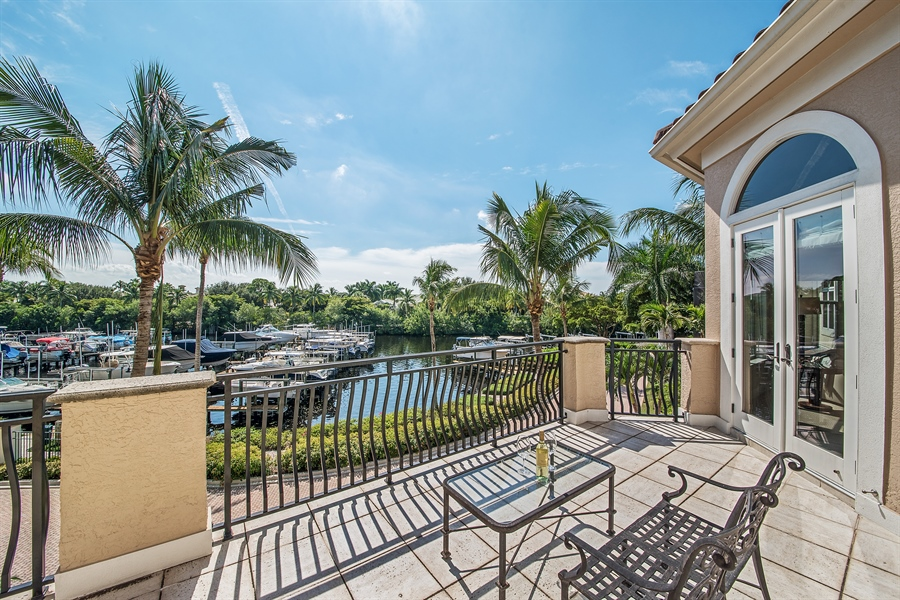 Real Estate Photography - 27640 Marina Isle Ct, Bonita Springs, FL, 34134 - Balcony