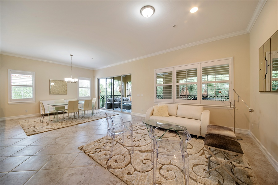 Real Estate Photography - 2850 Tiburon Blvd, 103, Naples, FL, 34109 - Living Room
