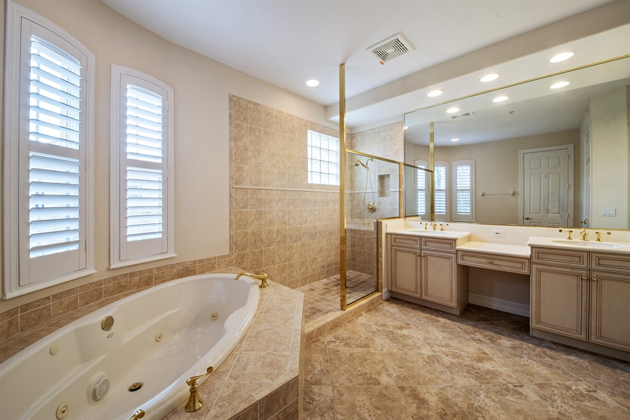 Real Estate Photography - 2850 Tiburon Blvd, 103, Naples, FL, 34109 - Master Bathroom