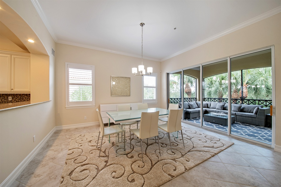 Real Estate Photography - 2850 Tiburon Blvd, 103, Naples, FL, 34109 - Dining Room
