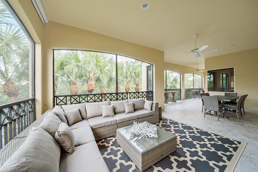 Real Estate Photography - 2850 Tiburon Blvd, 103, Naples, FL, 34109 - Lanai