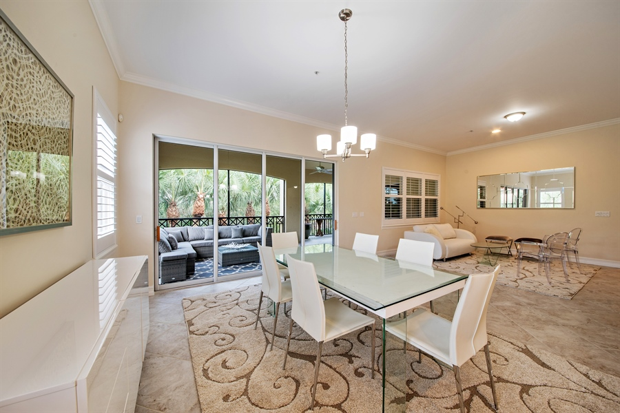 Real Estate Photography - 2850 Tiburon Blvd, 103, Naples, FL, 34109 - Living Room / Dining Room