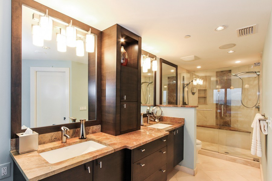 Real Estate Photography - 60 Seagate Drive, 705, Naples, FL, 34103 - Master Bathroom