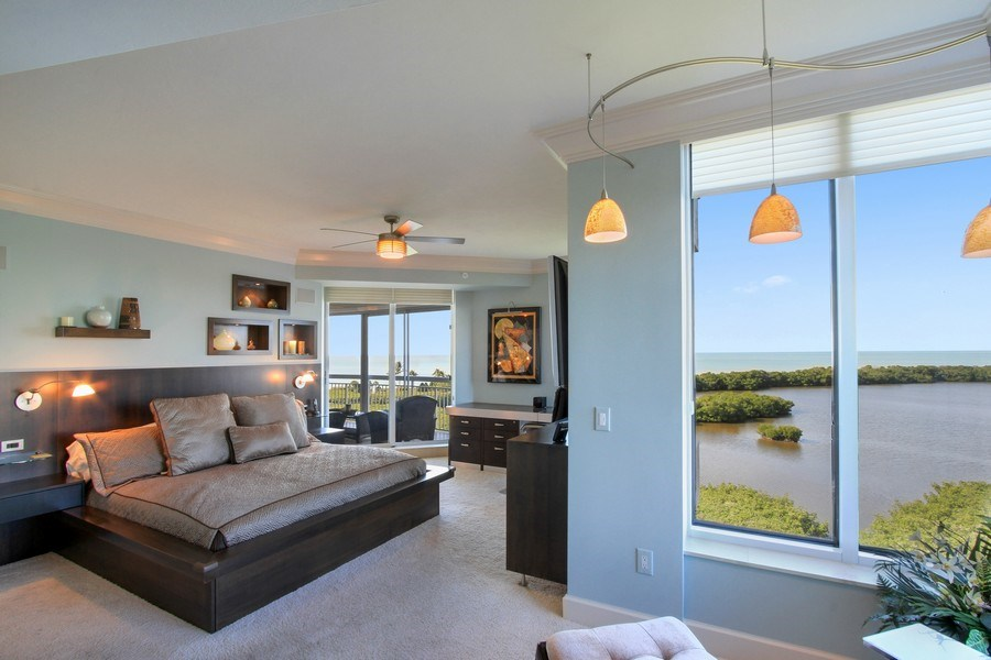 Real Estate Photography - 60 Seagate Drive, 705, Naples, FL, 34103 - Master Bedroom