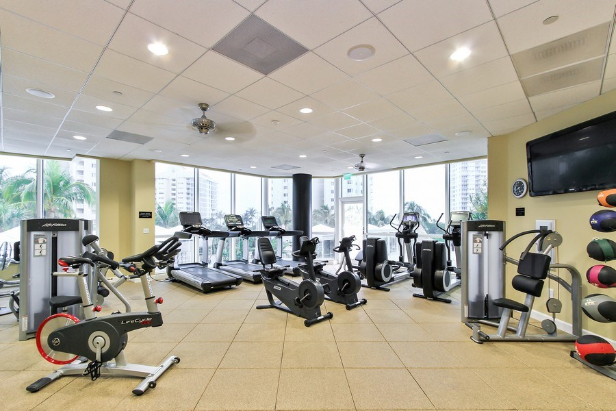 Real Estate Photography - 60 Seagate Drive, 705, Naples, FL, 34103 - Fitness Center