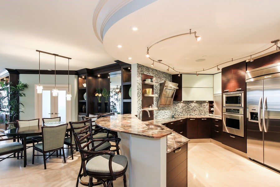Real Estate Photography - 60 Seagate Drive, 705, Naples, FL, 34103 - Kitchen