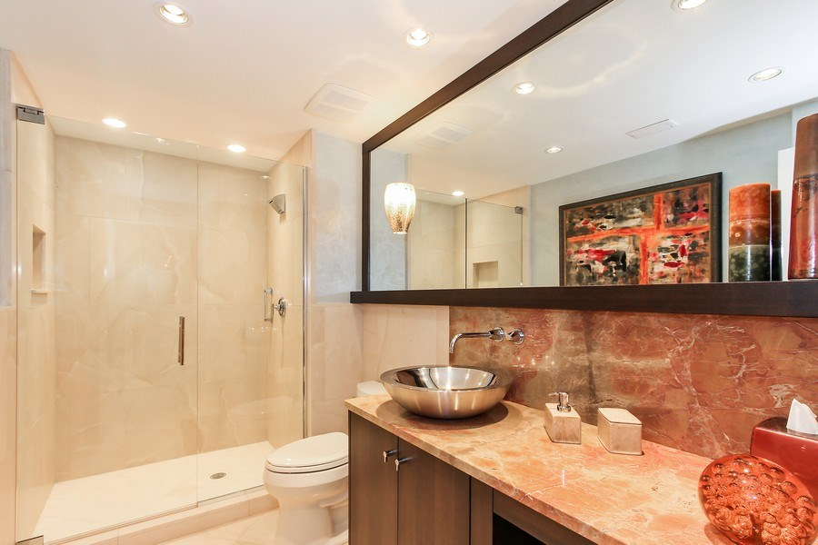Real Estate Photography - 60 Seagate Drive, 705, Naples, FL, 34103 - 2nd Bathroom