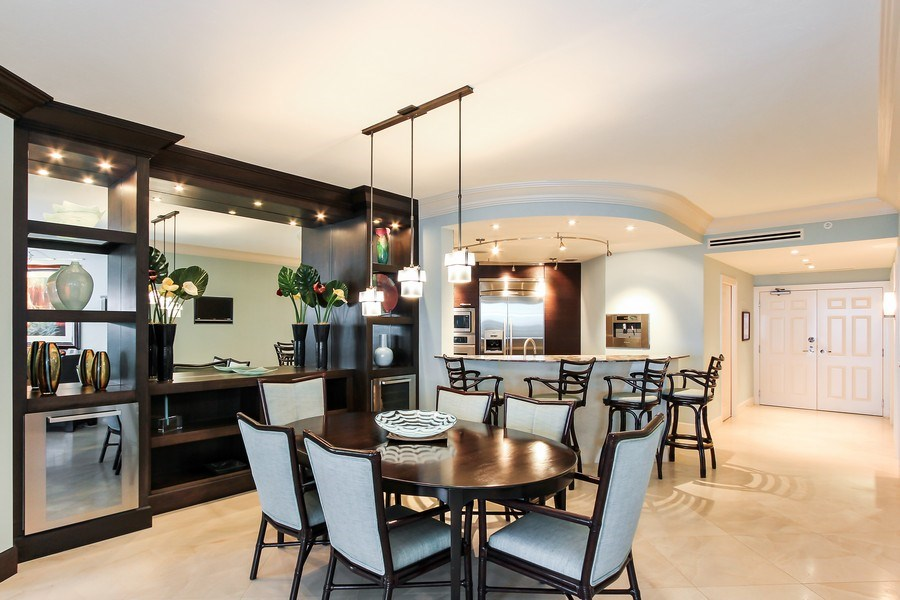 Real Estate Photography - 60 Seagate Drive, 705, Naples, FL, 34103 - Kitchen / Dining Room