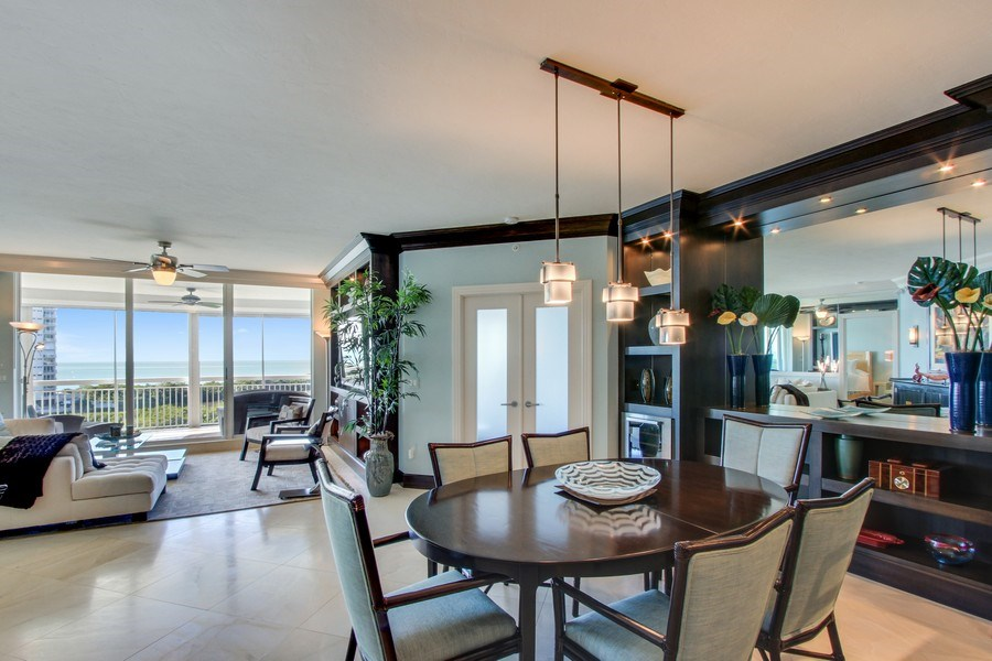 Real Estate Photography - 60 Seagate Drive, 705, Naples, FL, 34103 - Living Room / Dining Room