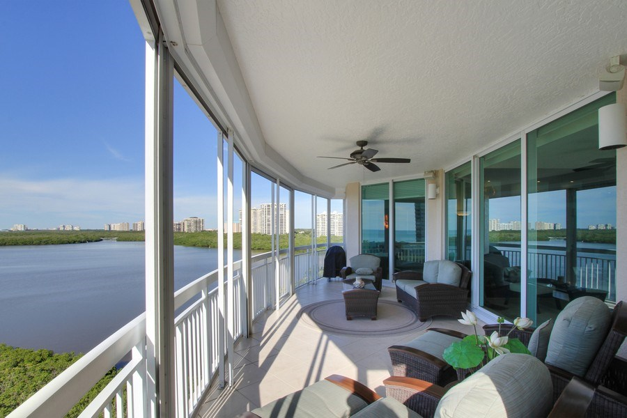 Real Estate Photography - 60 Seagate Drive, 705, Naples, FL, 34103 - Balcony