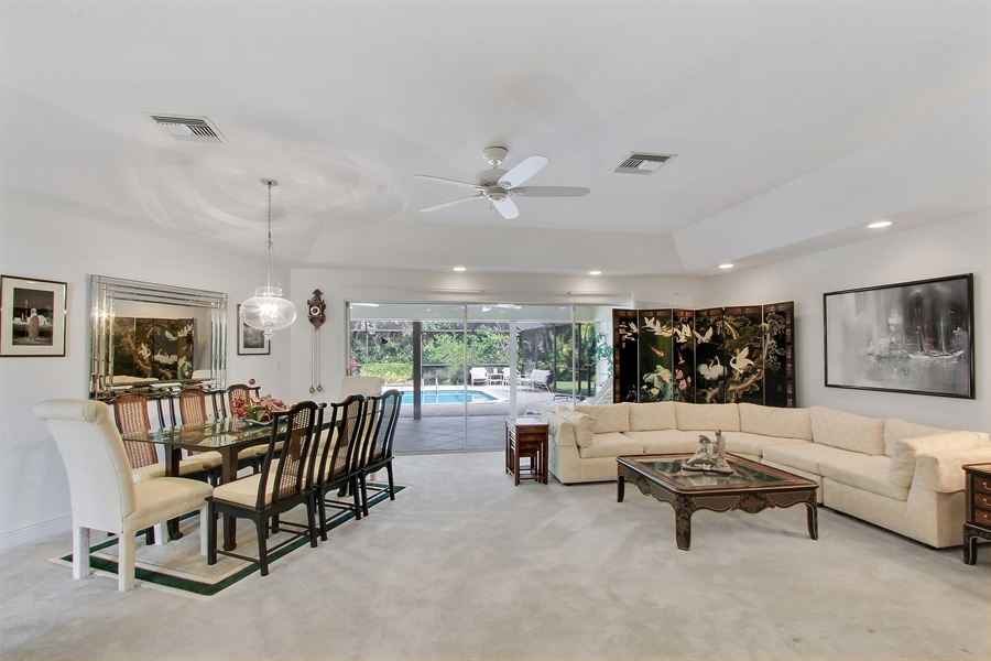 Real Estate Photography - 521 Turtle Hatch Road, Naples, FL, 34103 - Living Room