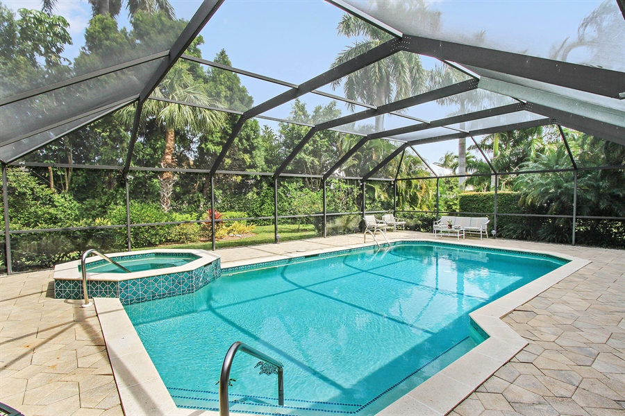 Real Estate Photography - 521 Turtle Hatch Road, Naples, FL, 34103 - Pool