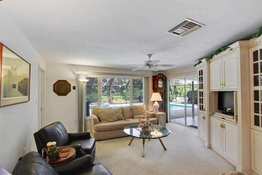 Real Estate Photography - 521 Turtle Hatch Road, Naples, FL, 34103 - Family Room