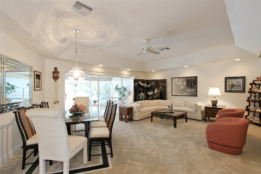 Real Estate Photography - 521 Turtle Hatch Road, Naples, FL, 34103 - Living Room / Dining Room