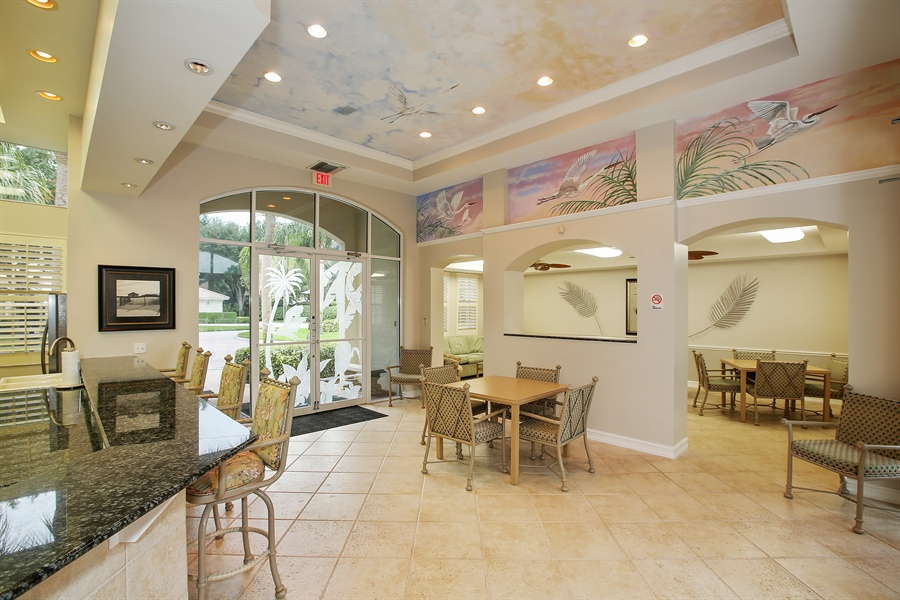 Real Estate Photography - 1061 Egrets Walk Cir, #202, Naples, FL, 34108 - Clubhouse