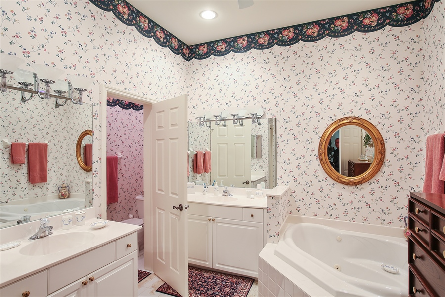 Real Estate Photography - 1061 Egrets Walk Cir, #202, Naples, FL, 34108 - Master Bathroom