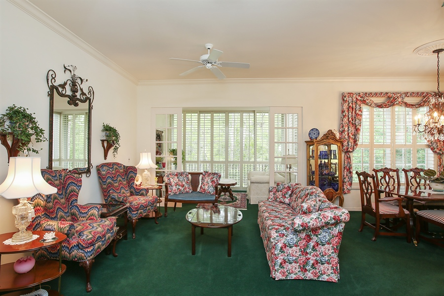 Real Estate Photography - 1061 Egrets Walk Cir, #202, Naples, FL, 34108 - Living Room