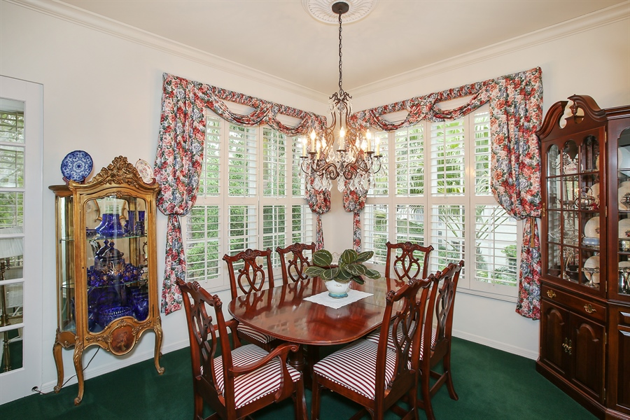 Real Estate Photography - 1061 Egrets Walk Cir, #202, Naples, FL, 34108 - Dining Room