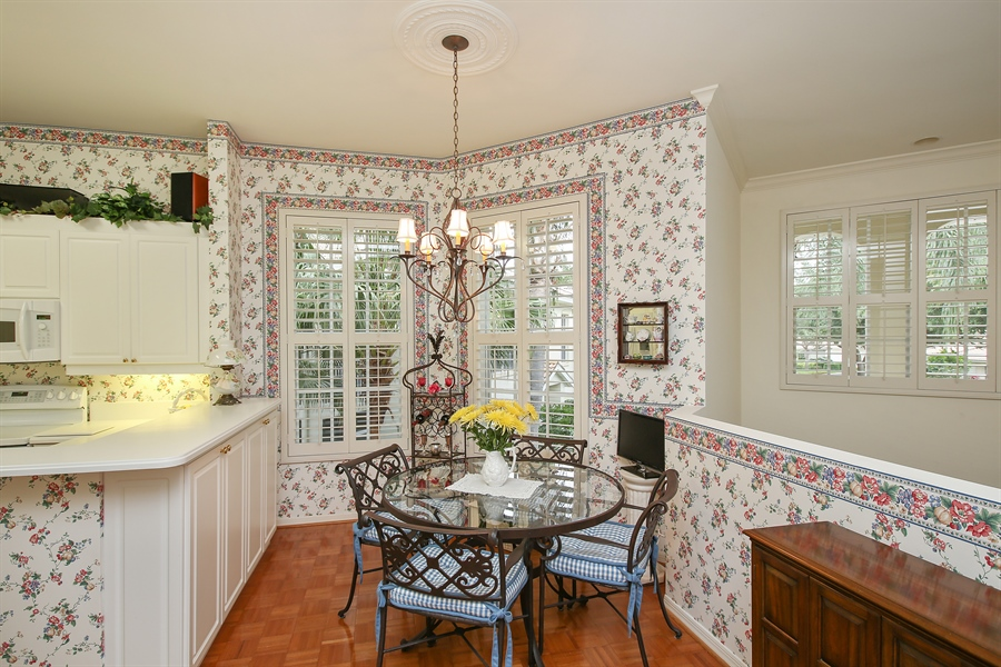 Real Estate Photography - 1061 Egrets Walk Cir, #202, Naples, FL, 34108 - Breakfast Area