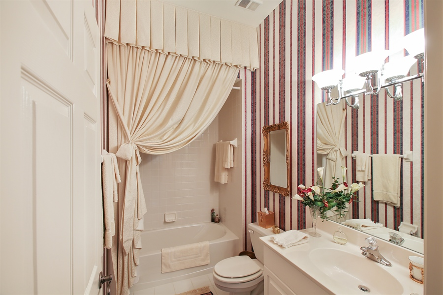Real Estate Photography - 1061 Egrets Walk Cir, #202, Naples, FL, 34108 - 2nd Bathroom