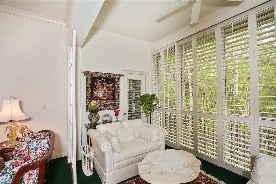 Real Estate Photography - 1061 Egrets Walk Cir, #202, Naples, FL, 34108 - Sun Room