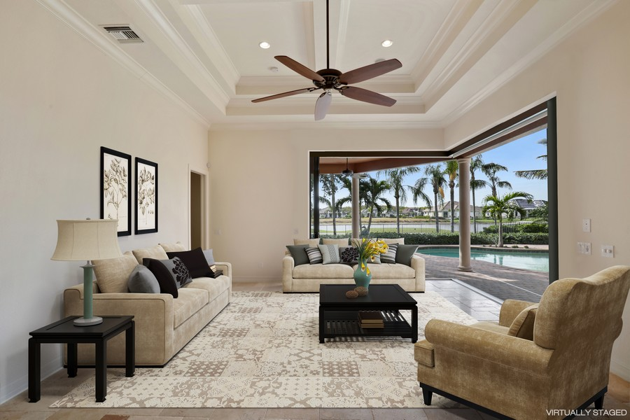 Real Estate Photography - 6037 Sunnyslope, Naples, FL, 34119 - Great Room