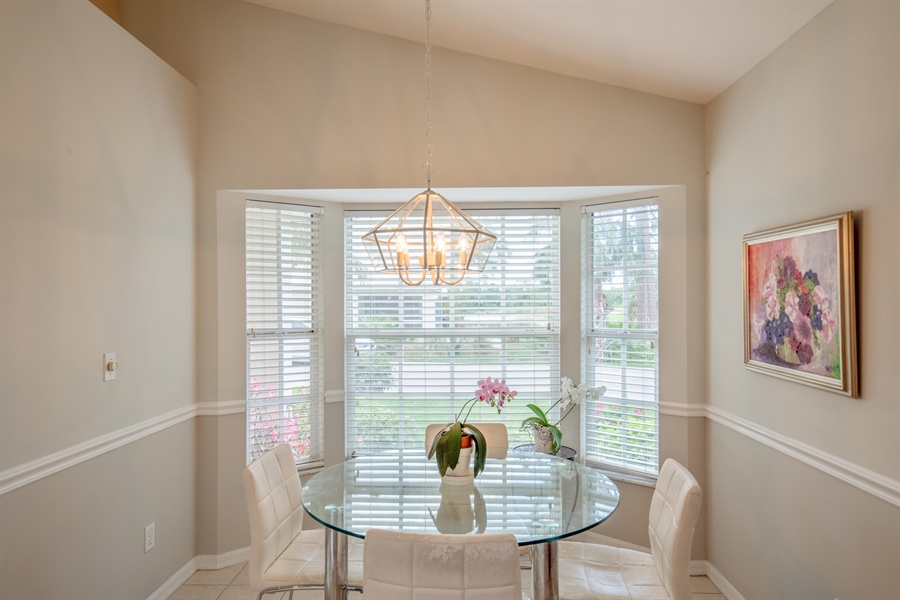 Real Estate Photography - 1577 Weybridge Cir, Naples, FL, 34110 - Breakfast Area