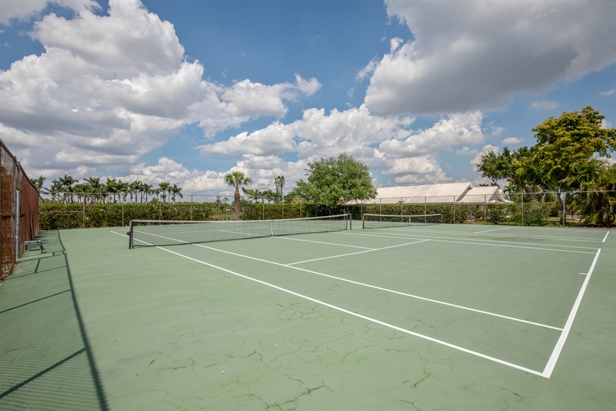 Real Estate Photography - 1577 Weybridge Cir, Naples, FL, 34110 - Tennis Court