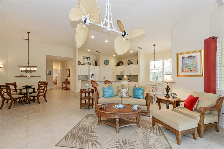 Real Estate Photography - 21420 Pelican Sound Dr, 201, Estero, FL, 33928 - Living Room