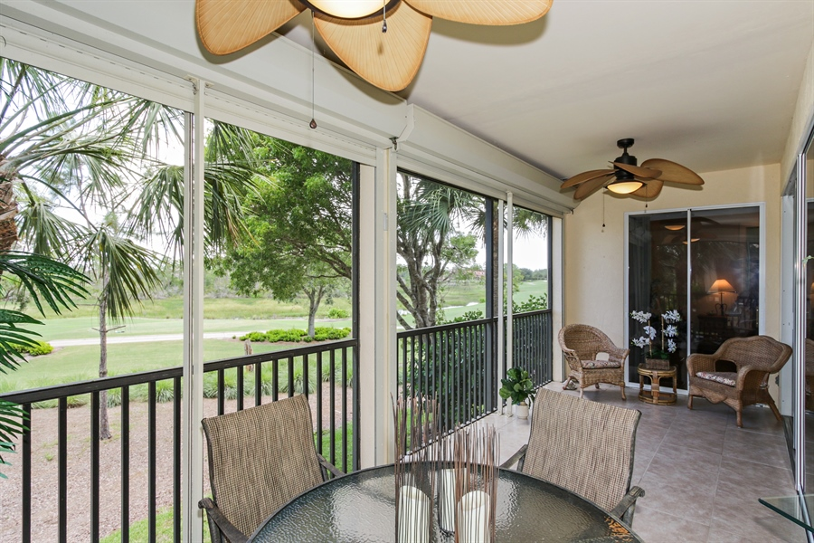 Real Estate Photography - 21420 Pelican Sound Dr, 201, Estero, FL, 33928 - Lanai