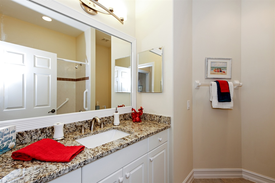 Real Estate Photography - 21420 Pelican Sound Dr, 201, Estero, FL, 33928 - 2nd Bathroom