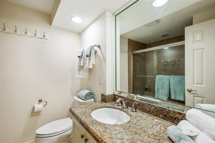 Real Estate Photography - 4031 Gulf Shore Blvd N, Unit 3C, Naples, FL, 34103 - 2nd Bathroom