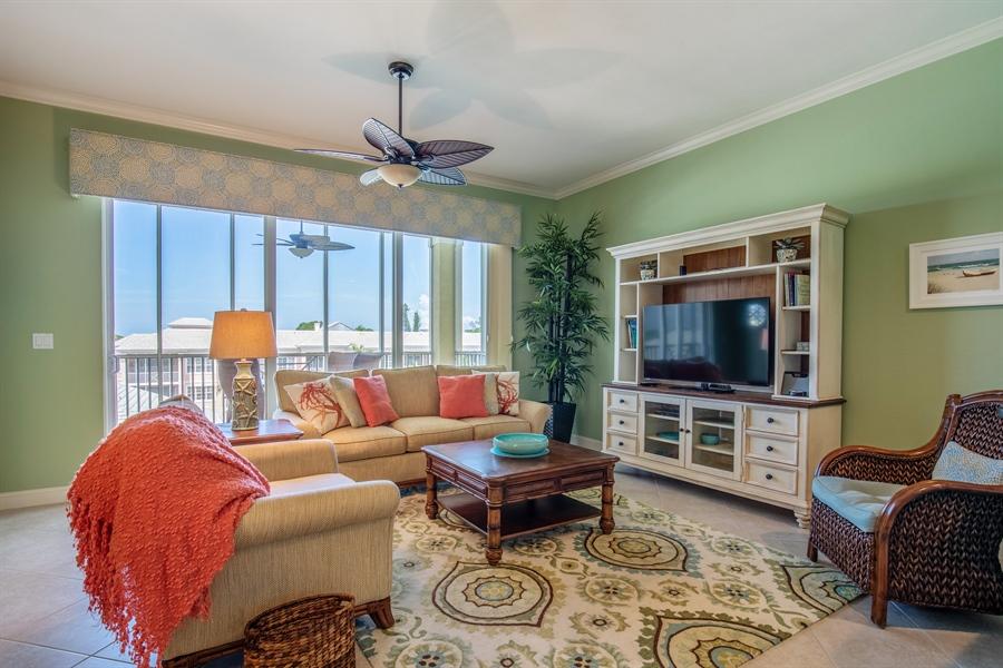 Real Estate Photography - 3901 kensway, unit 3501, Bonita Springs, FL, 34134 - Living Room