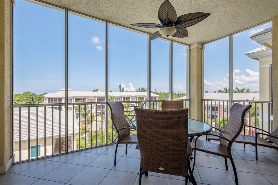 Real Estate Photography - 3901 kensway, unit 3501, Bonita Springs, FL, 34134 - Lanai