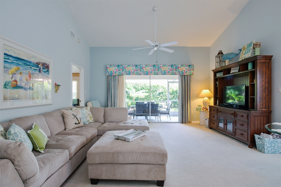 Real Estate Photography - 3605 Corinthian Way, Naples, FL, 34105 - Living Room