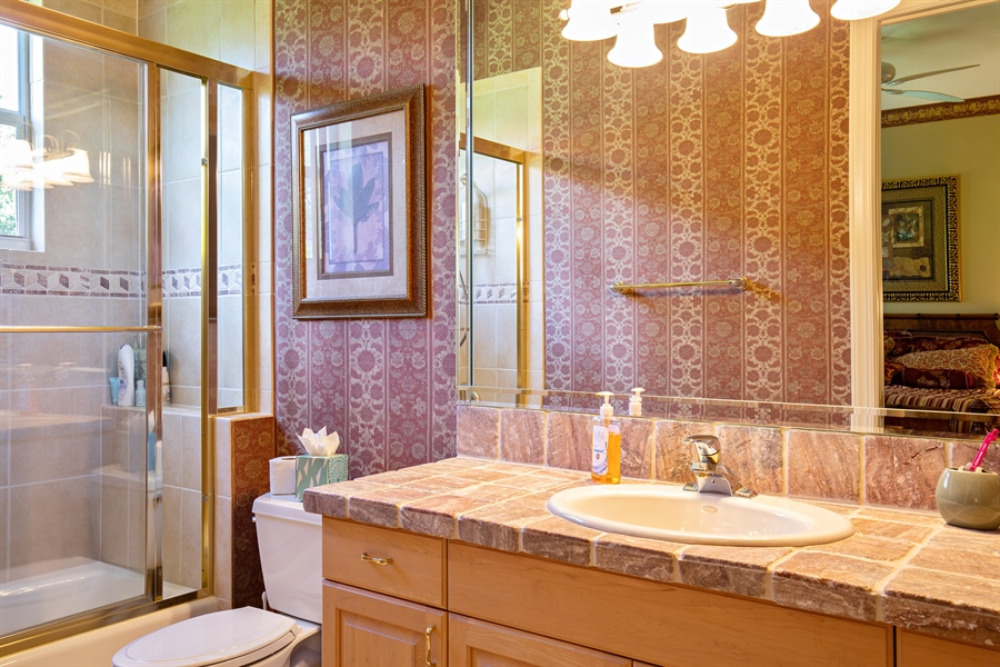 Real Estate Photography - 2955 Gardens Blvd, Naples, FL, 34105 - 3rd Bathroom